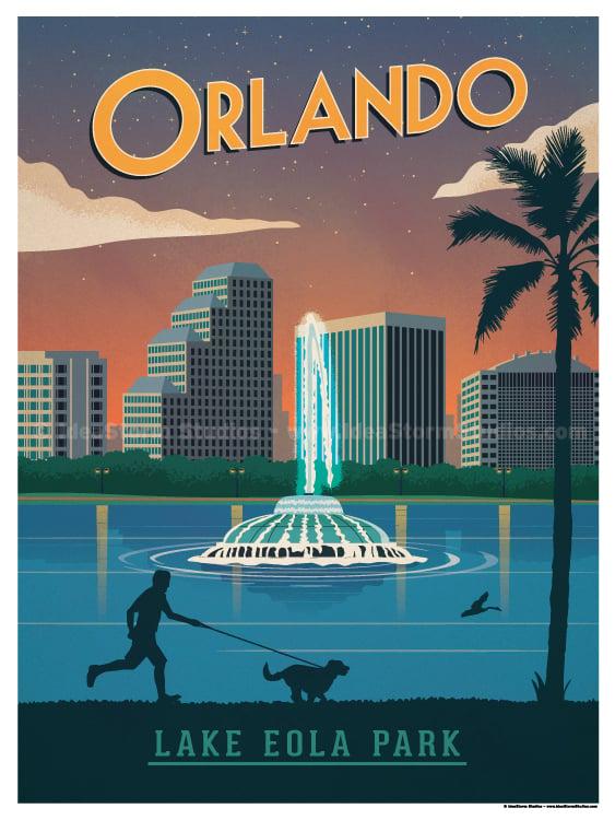 Image of Vintage Orlando Poster