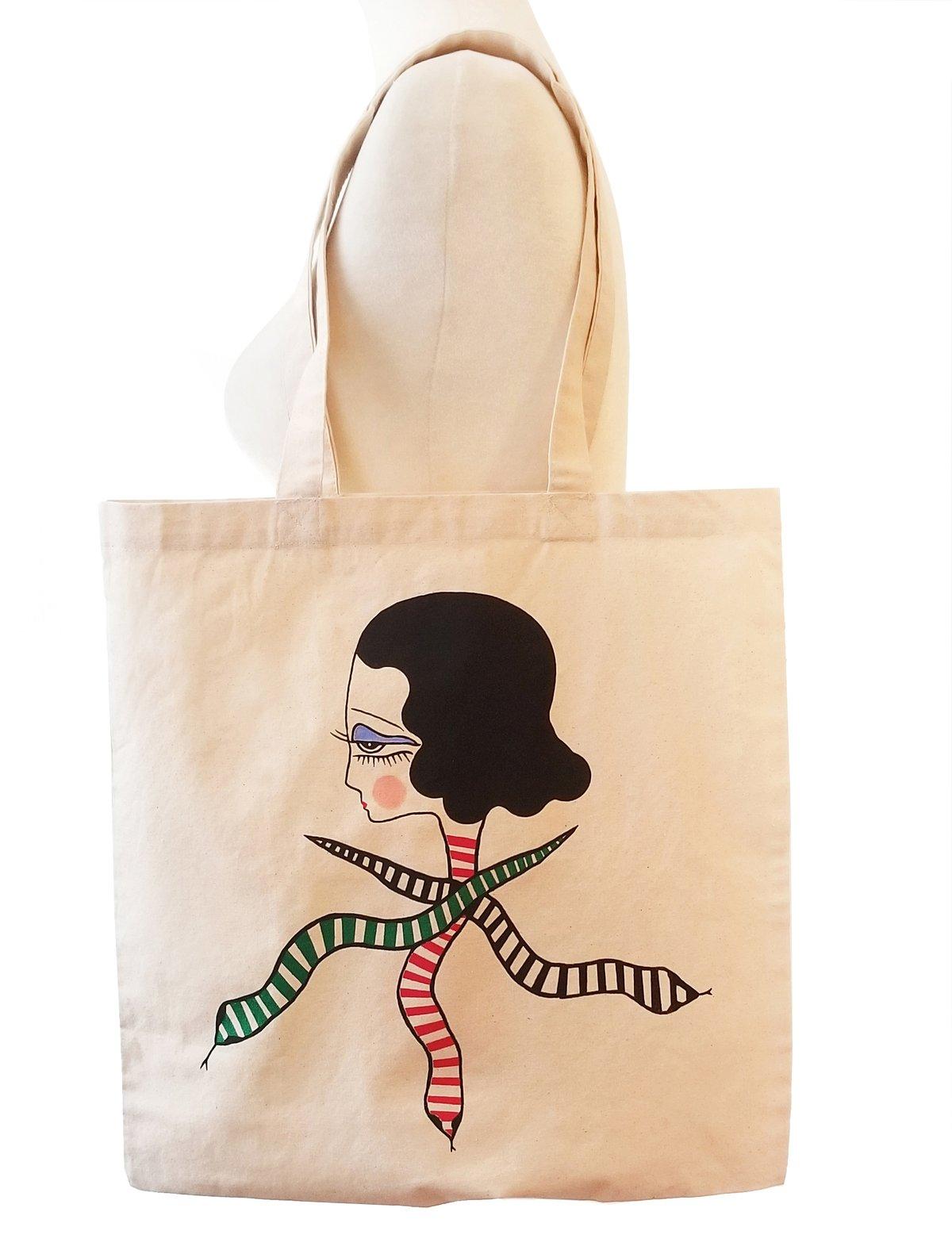 Image of Diedra Snake Goddess canvas bag