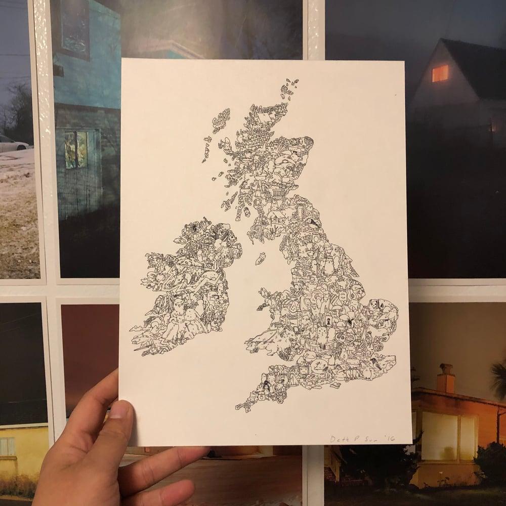 Image of UK and Ireland Drawing