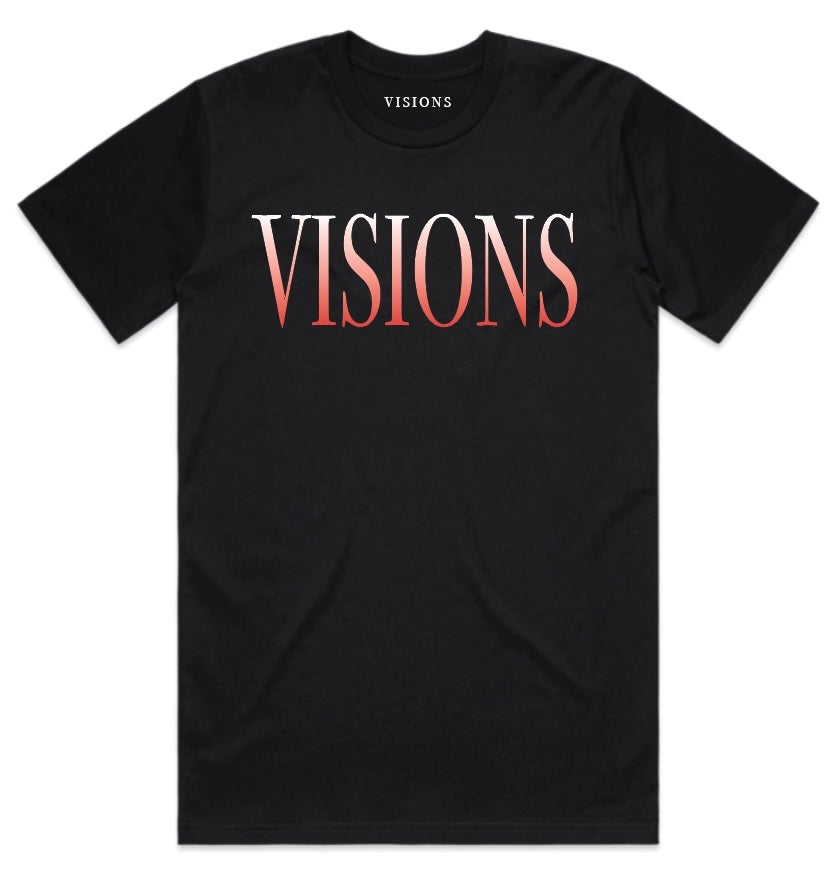 "Image of VISIONS ""FASHION TOUR"" T-SHIRT (RED)"