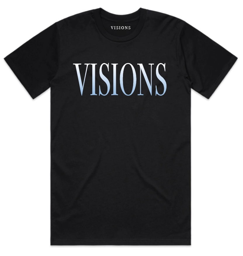 "Image of VISIONS ""FASHION TOUR"" T-SHIRT (BLUE)"