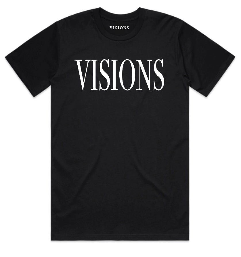 "Image of VISIONS ""FASHION TOUR"" T-SHIRT (WHITE)"
