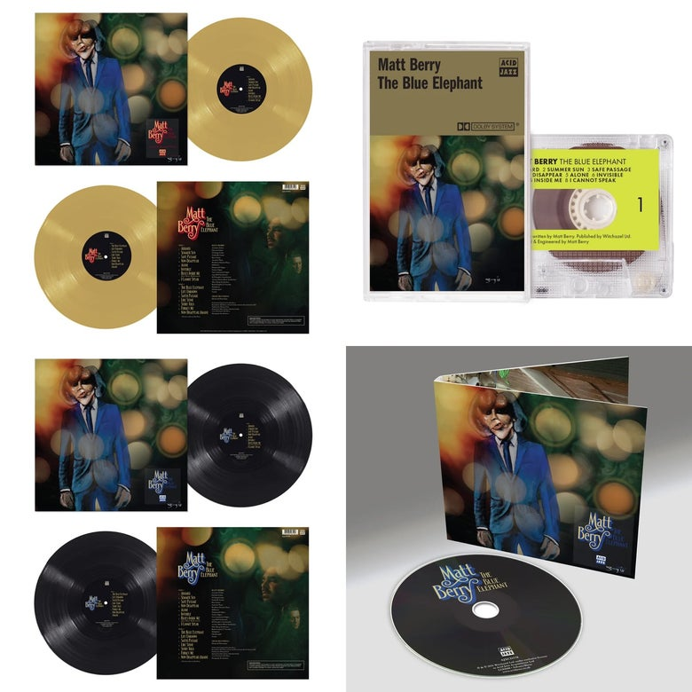 Image of Matt Berry 'The Blue Elephant' - Mustard Vinyl + Black Vinyl + CD + Cassette (Pre-Order)