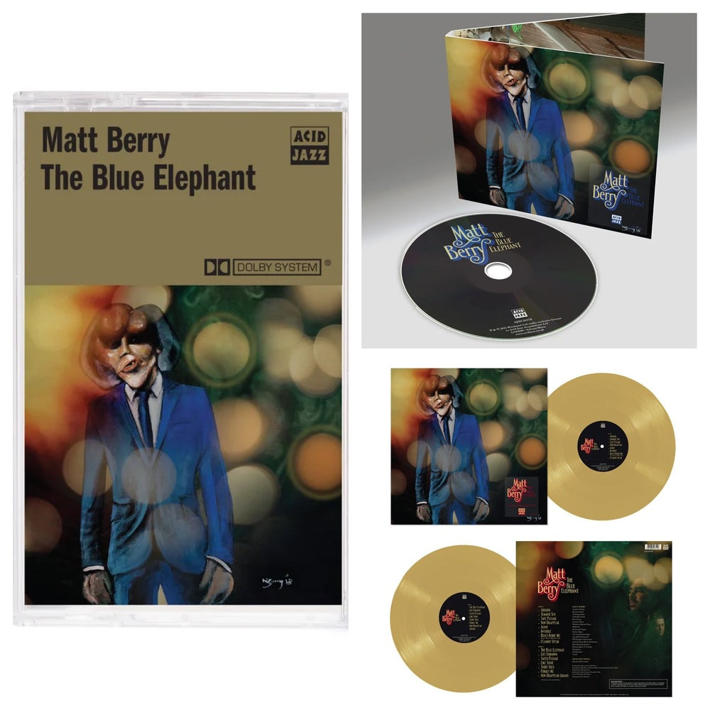 Image of Matt Berry 'The Blue Elephant' - Limited Edition Mustard Vinyl + CD + Limited Cassette (Pre-Order)