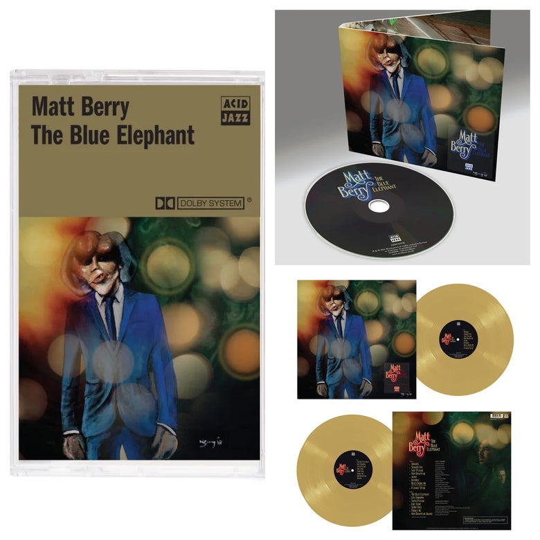 Image of Matt Berry 'The Blue Elephant' - Limited Edition Mustard Vinyl + CD + Limited Cassette