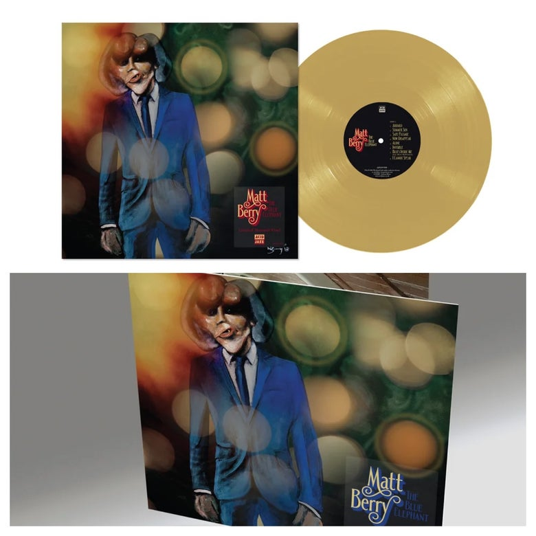 Image of Matt Berry 'The Blue Elephant' - Limited Edition Mustard Vinyl LP + CD (Pre-Order)