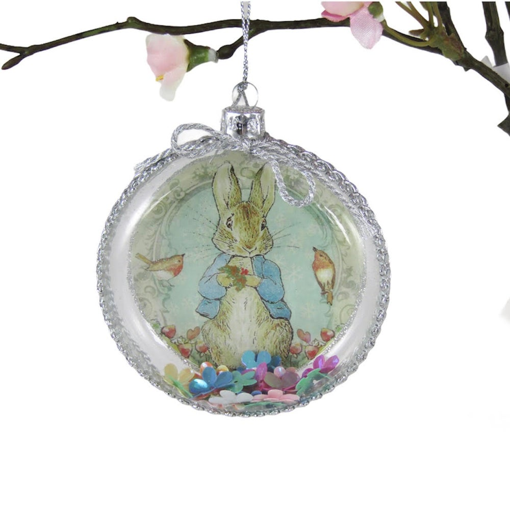 Image of Peter Rabbit Flat Glass  Bauble