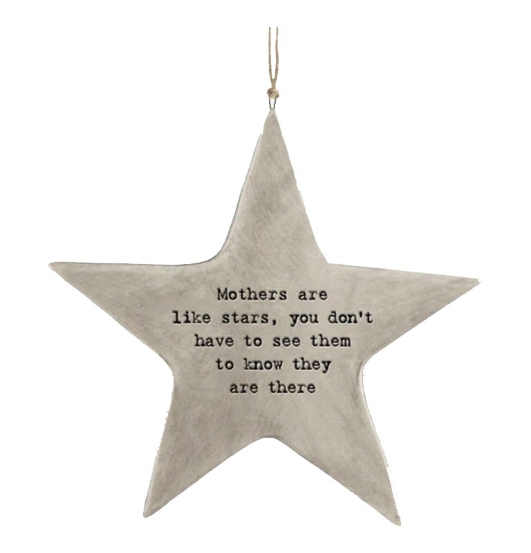Image of East of India Rustic Porcelain Star Mothers Are Like Stars