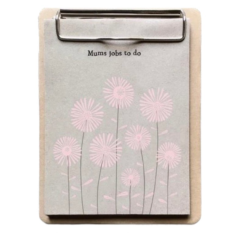 Image of East of India Small Clip Pad Mum's Jobs to Do