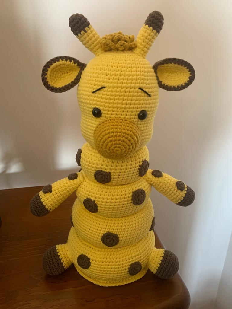 Bonecos - Brinquedo Didáctico Girafa