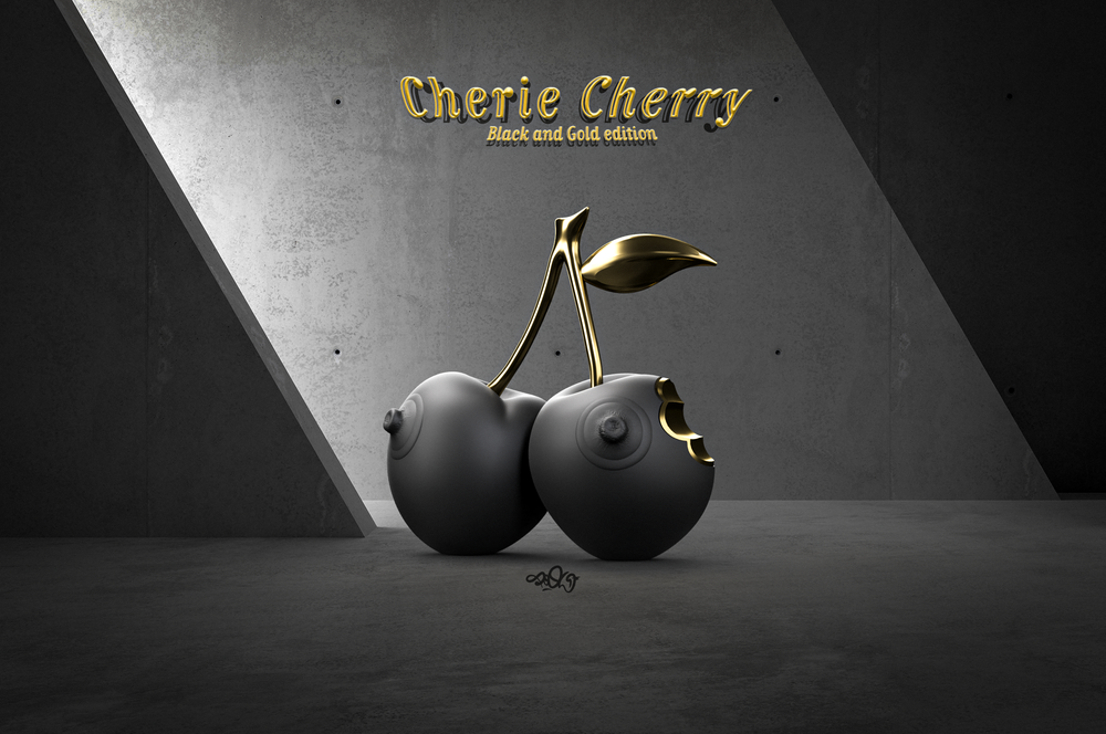 Image of Cherie Cherry Black Gold edition