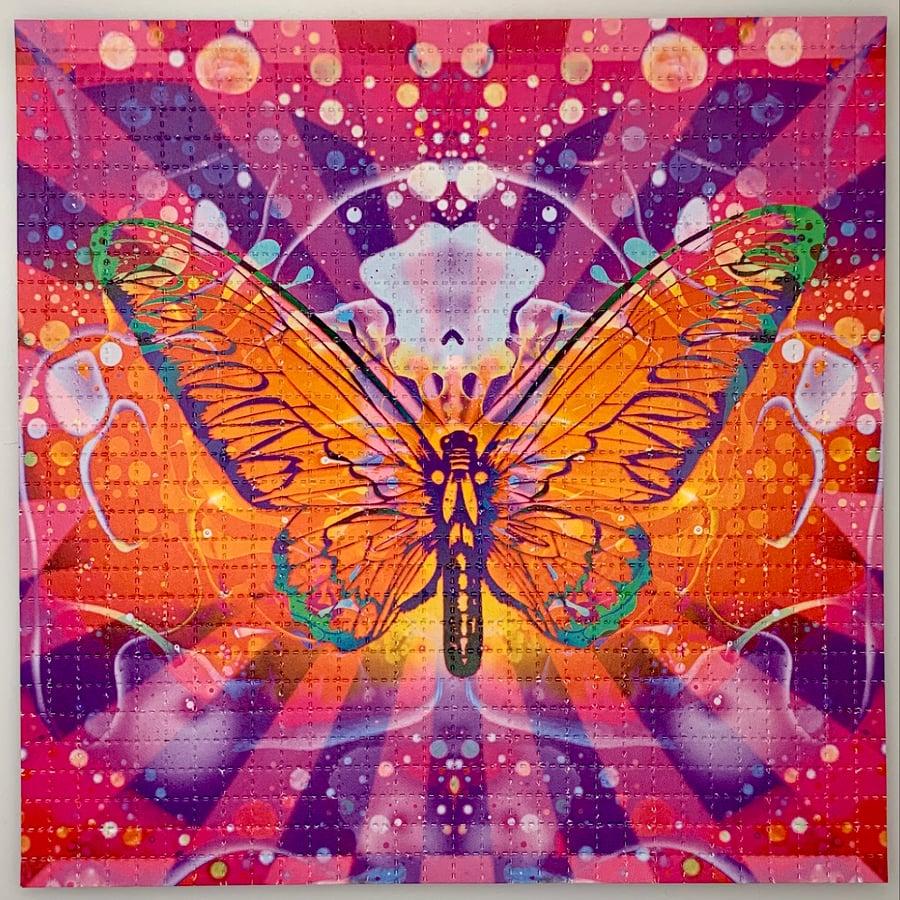 Image of 'Iron Butterlfy' - Blotter Print