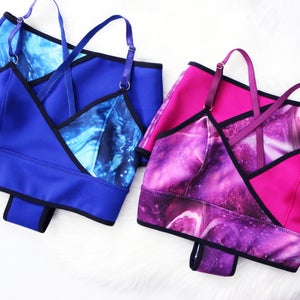 Image of The Crossover Cami Set in Sea- READY TO SHIP