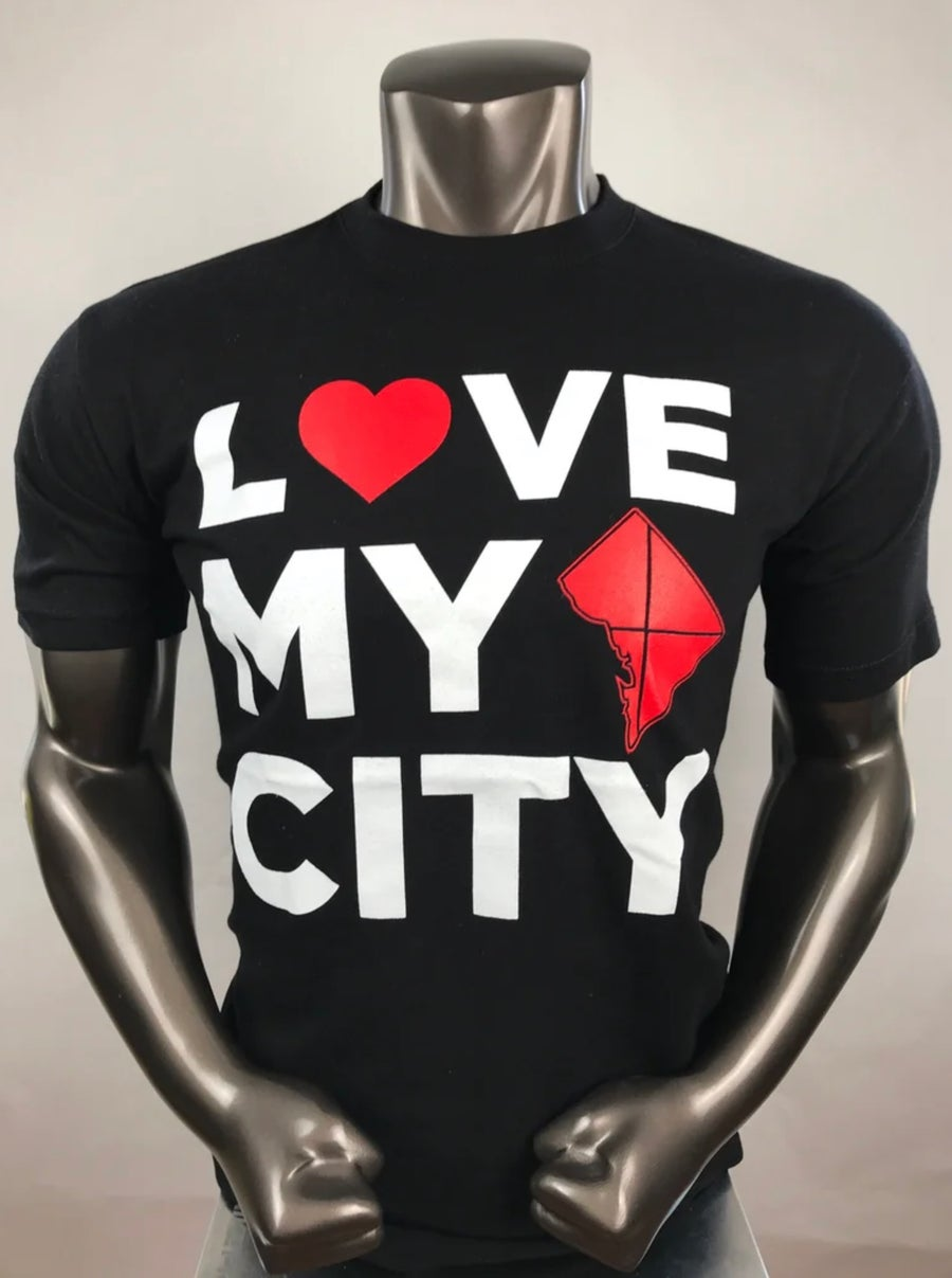 Image of LOVEDCGOGO Love My City Black T-shirt
