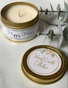 Gold Soy Candle Tin   3oz