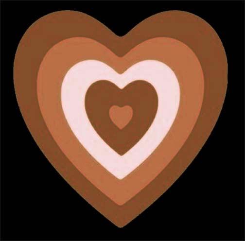 Image of Brown Puff Heart Shirt