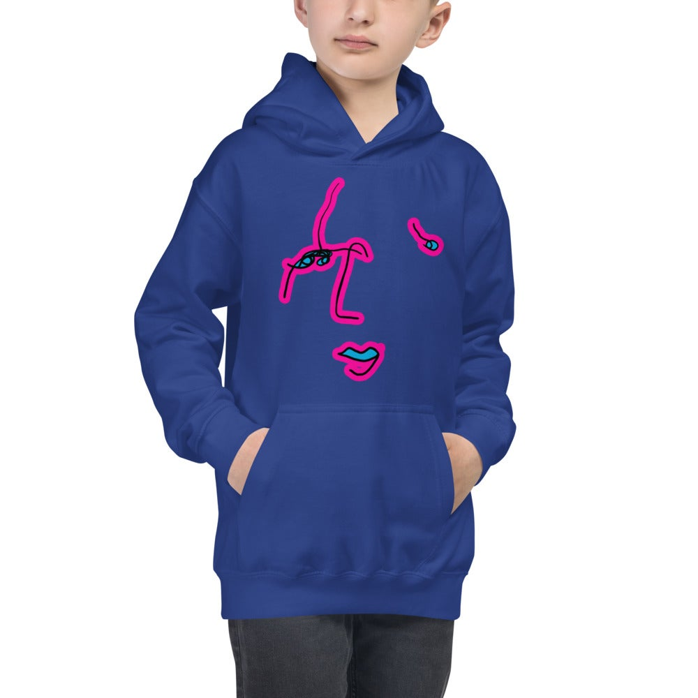 Image of Kids Commonality Hoodie Blue