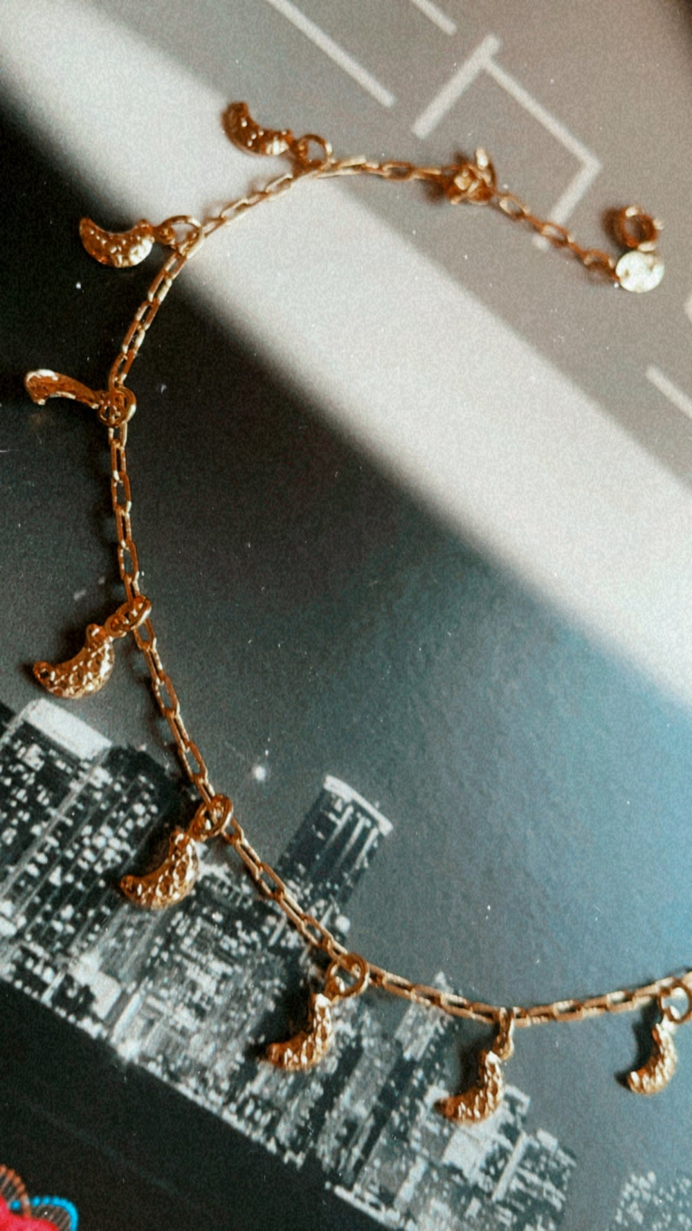 To the moon and back anklet