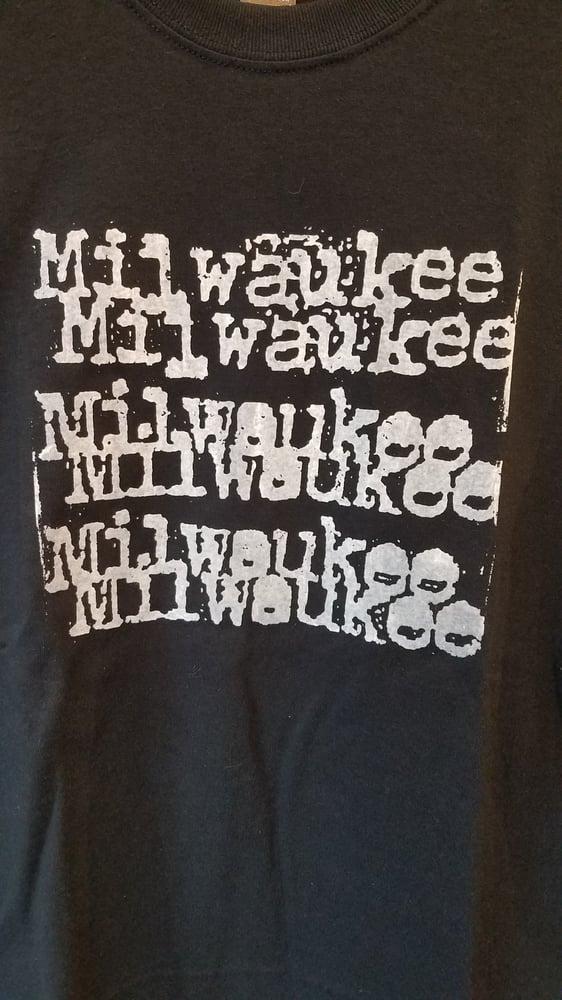 Image of MKE Typewriter Font Unisex T Shirt