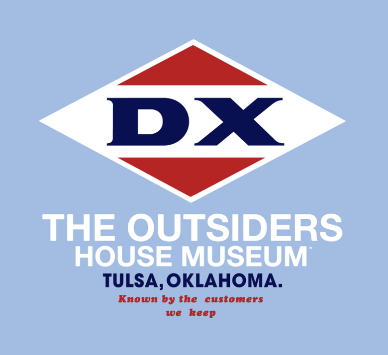 """Image of DX - The Outsiders House Museum Tulsa, Ok.  """"Known by the customers we keep""""  T-Shirt."""
