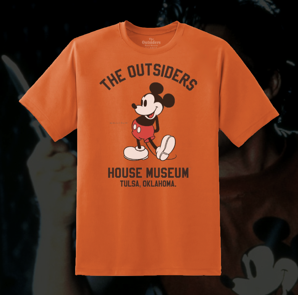 """Image of  """"Who You Calling Bums, Pal?"""" -Two-Bit. Orange Mouse T-Shirt."""