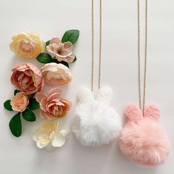 Image of Bunny Pom Necklace
