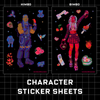 Character Sticker Sheets