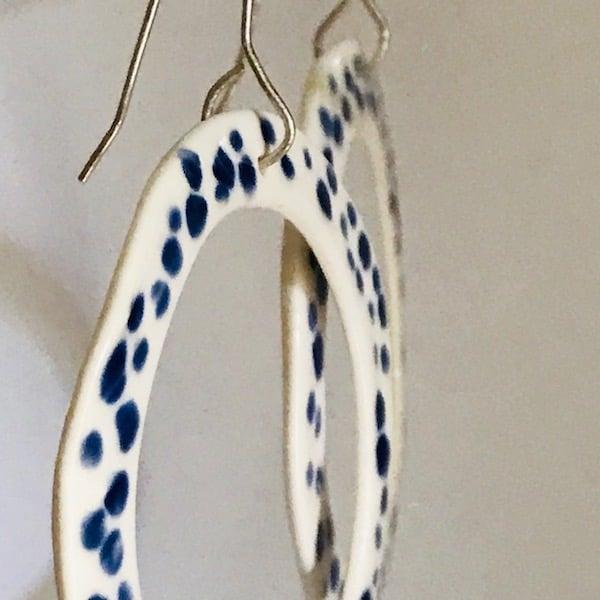 Image of Spot Loop Porcelain Earrings