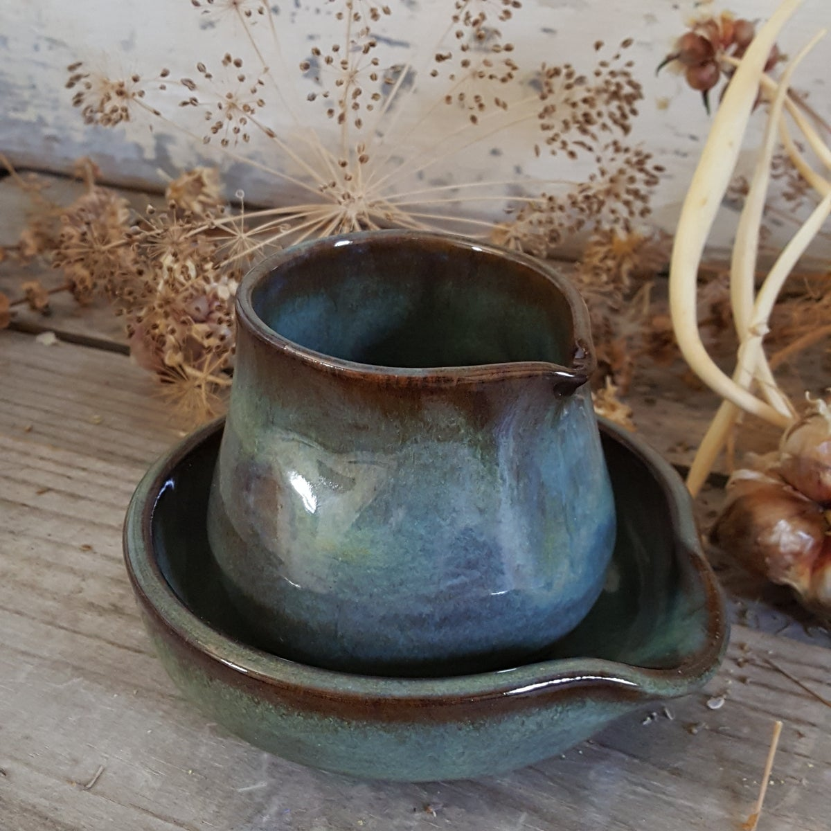 Image of Tiny Duckling Pitcher and Spoon Rest Set: Avalanche Gorge (Green)