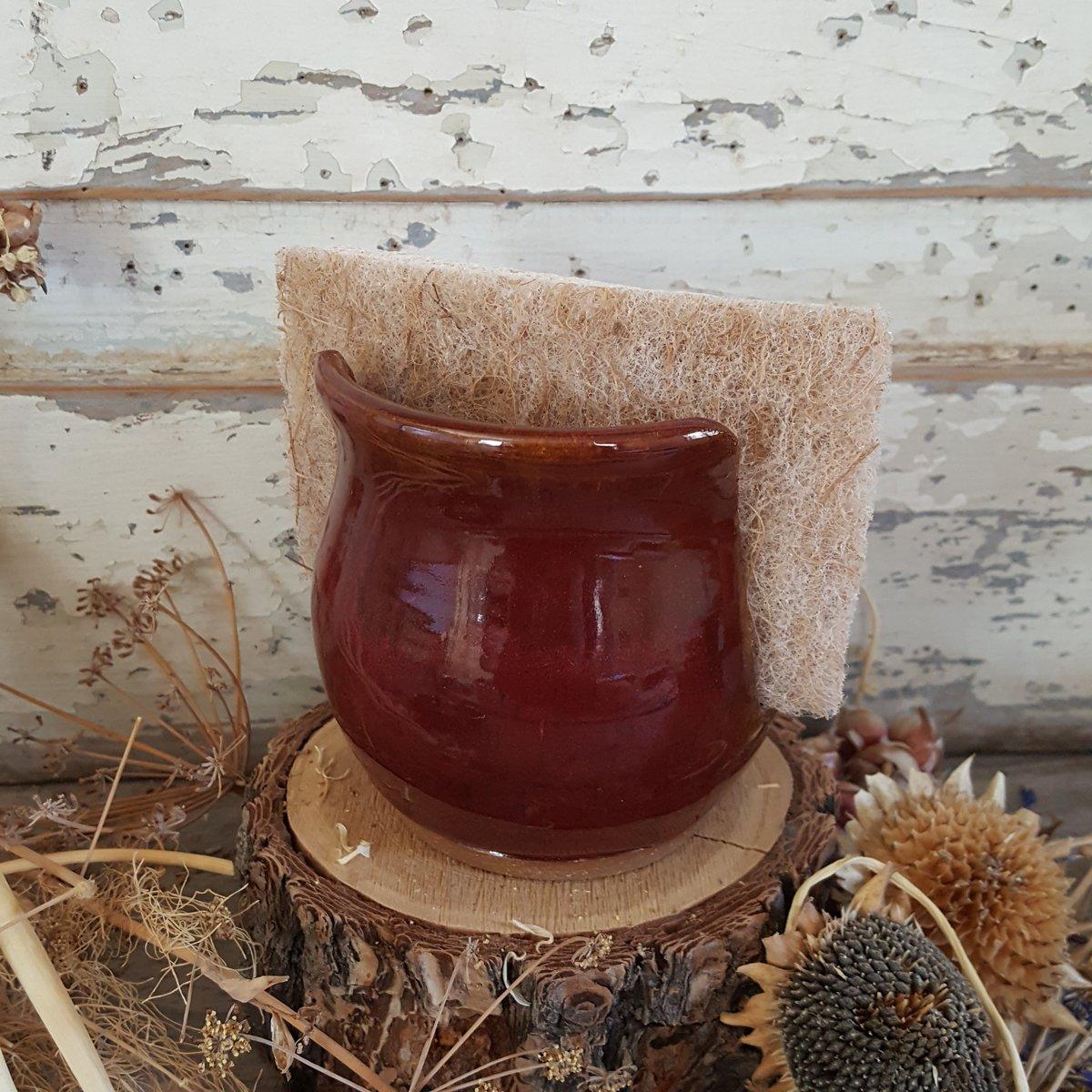 Image of Spoon Rest and Sponge Holder Set: Red Osier (Red)