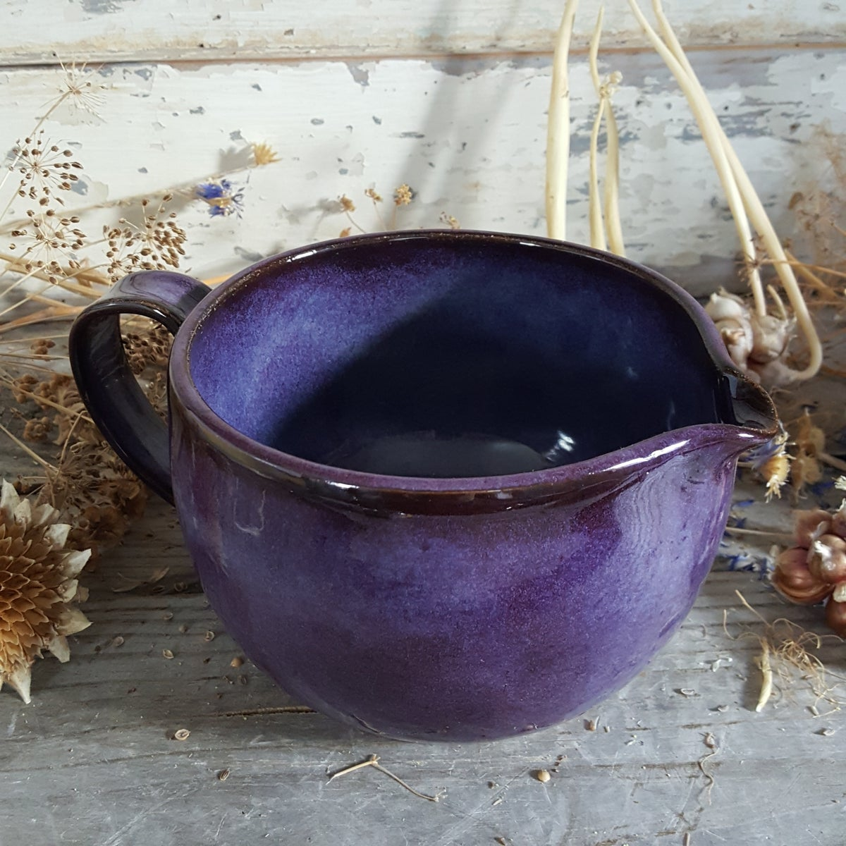 Image of Countertop-worthy Batter Bowl 3 cup: Huckleberry (Purple)