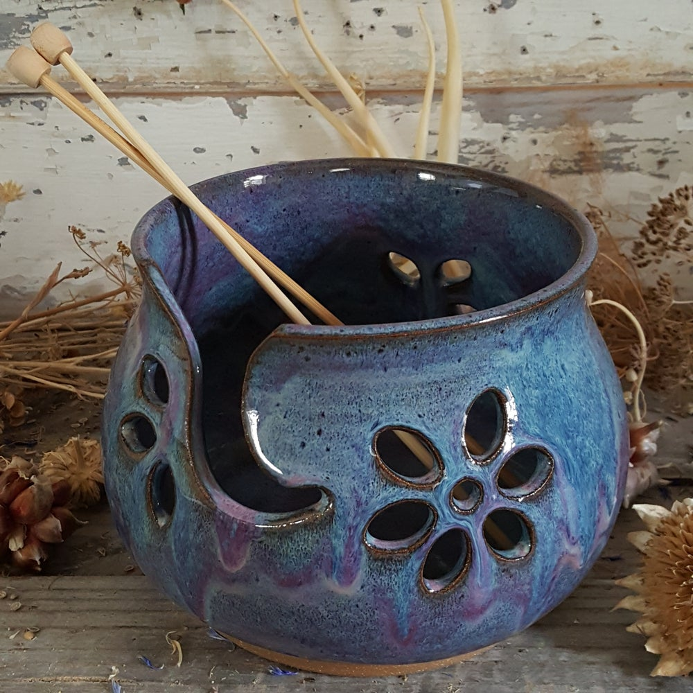 Image of Yarn Bowl for Your Wool: Lupine (Periwinkle)
