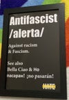 'Alerta' A3 Antifascist Poster  (unframed)
