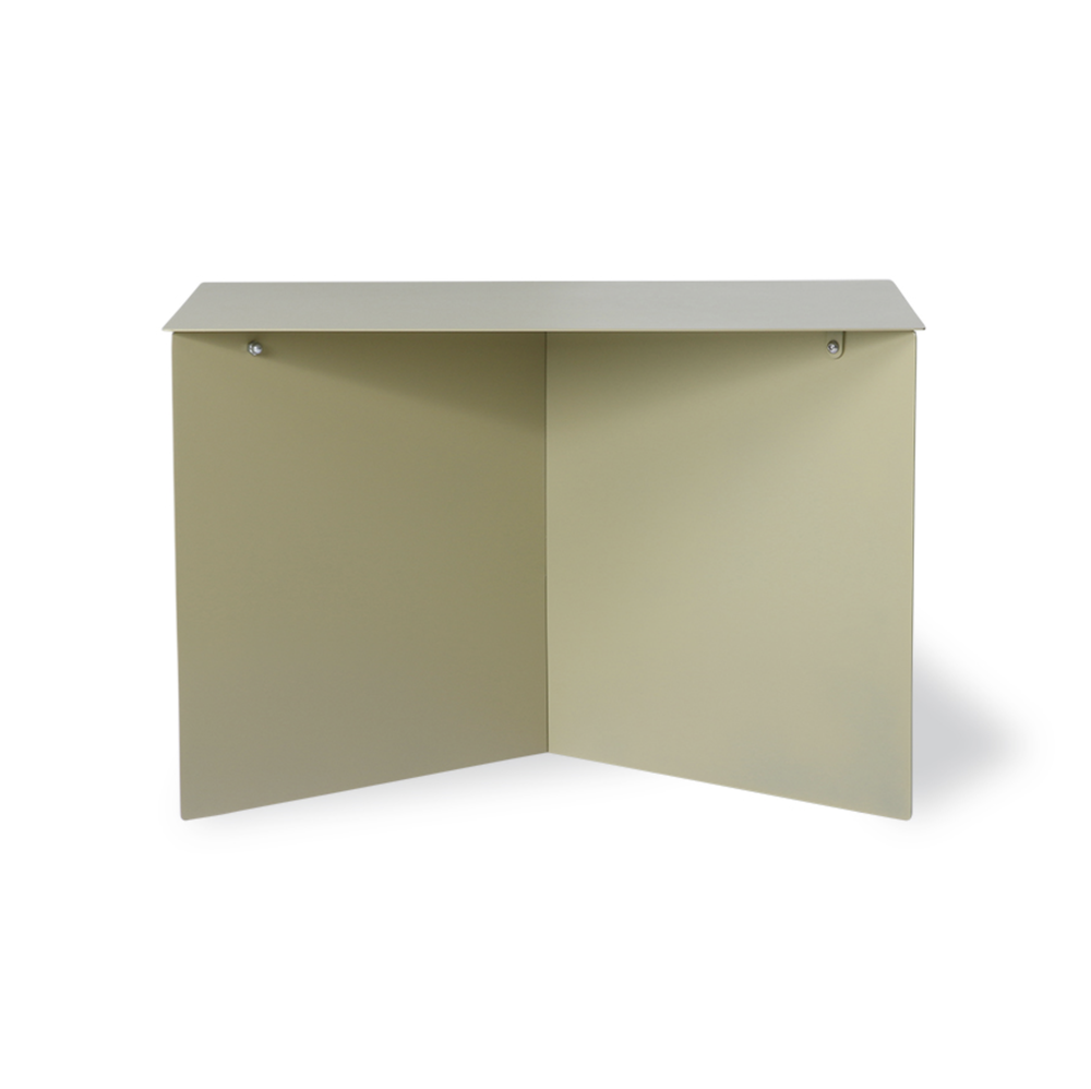 Image of Olive green metal side table