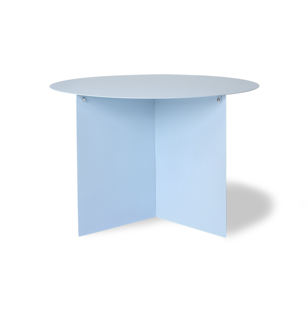 Image of Blue metal side table