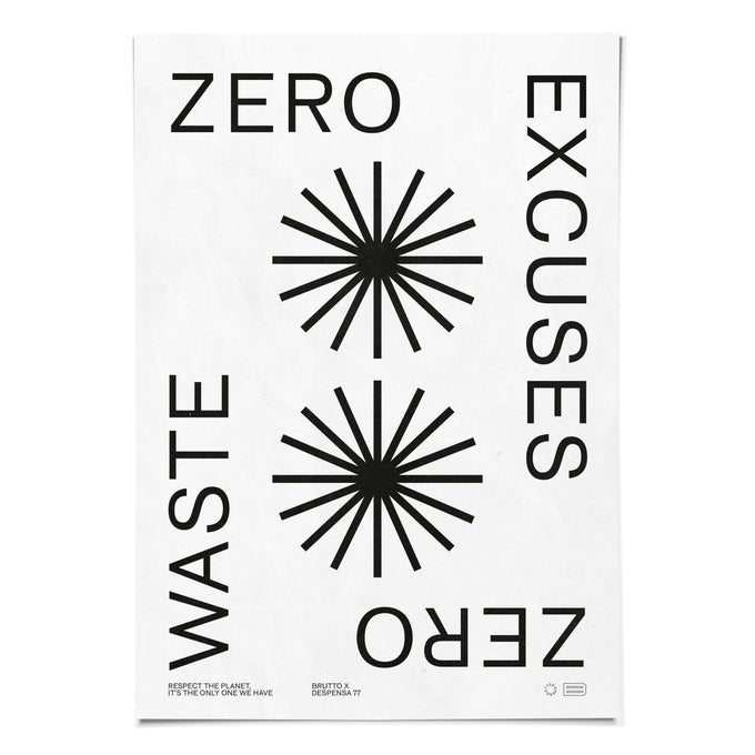 Image of ZERO EXCUSES 50x70cm Poster
