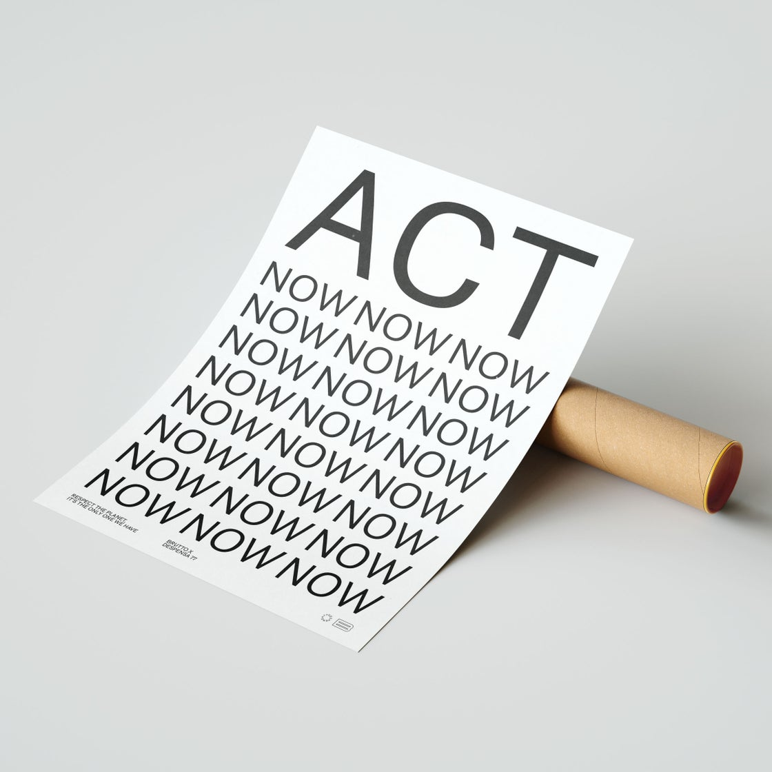 Image of ACT NOW 50x70cm Poster