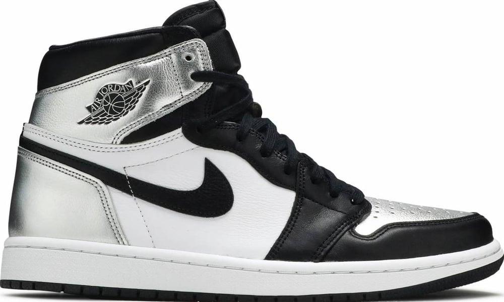 "Image of Nike Retro Jordan 1 Hi Wmns ""Silver Toe"" Sz 10W/8.5M"