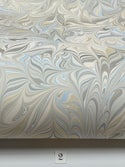 Marbled Paper Neutral Shades with Blue 1/2 sheets