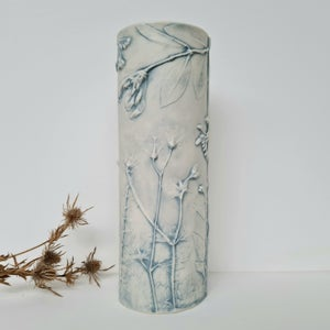 Medium Vase Garden Blue Grey