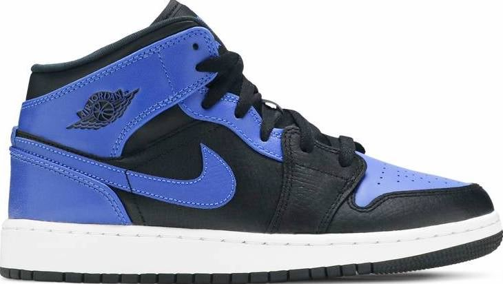 "Image of Nike Retro Air Jordan 1 Mid Gs ""Royal"" Sz 7Y"