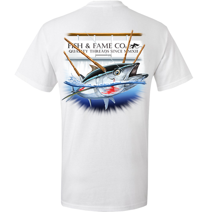 Image of Blue Fin Tee (white)