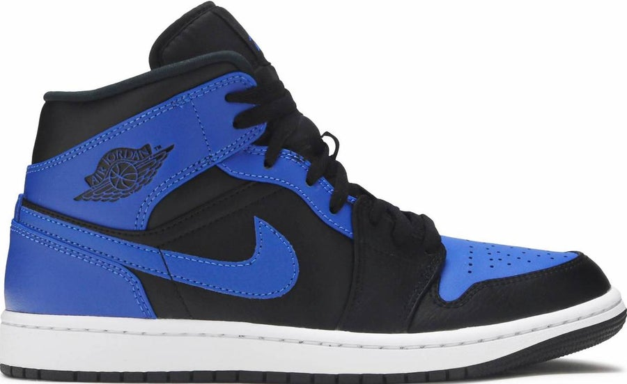 "Image of Nike Retro Air Jordan 1 Mid ""Royal"" Sz 9.5"