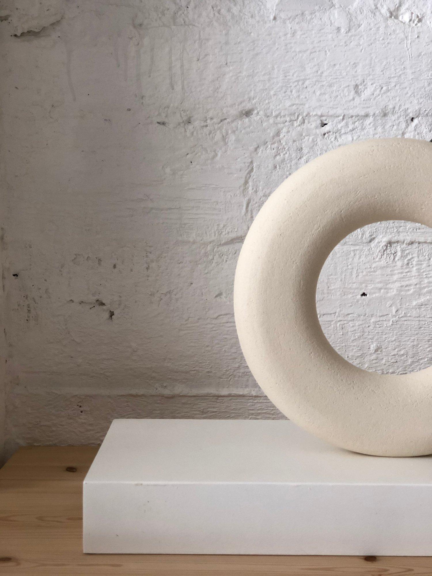 Image of HUGE WHITE CIRCLE VASE