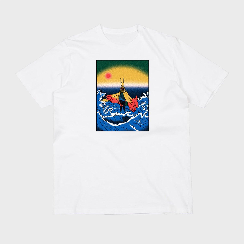 Image of Sun Ra (white short sleeve t-shirt)