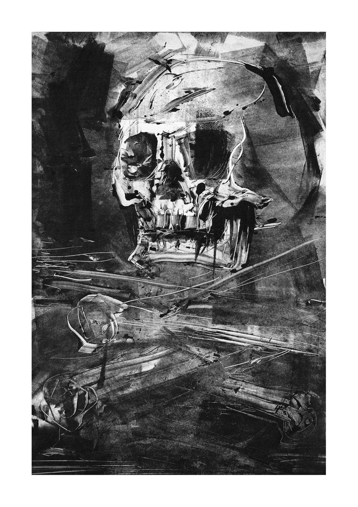 Image of Skull monotype 2