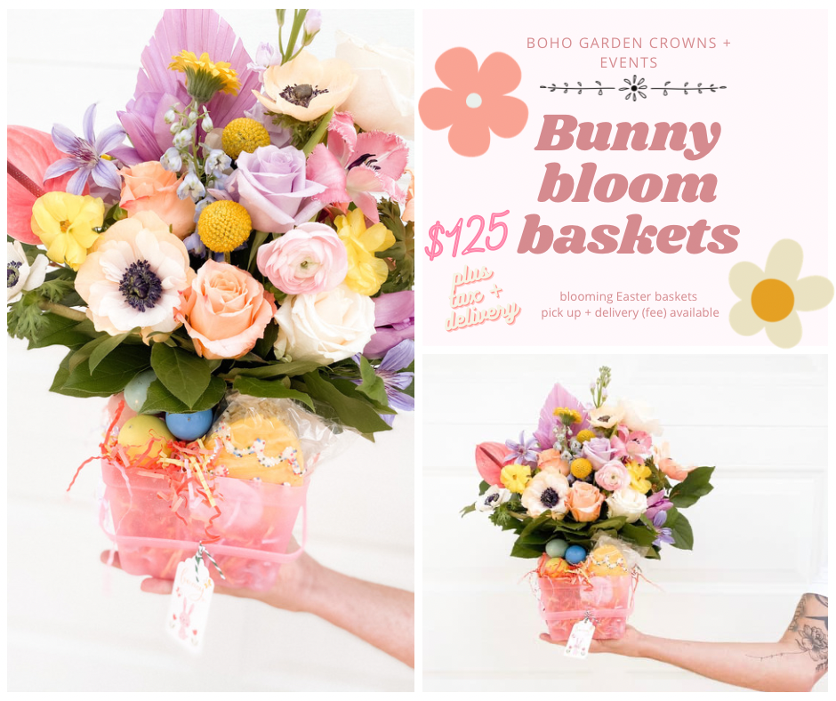 Bunny bloom baskets