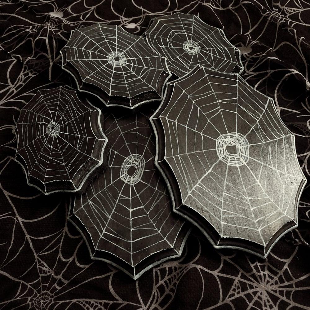 Image of Spider Web Decor Plaque