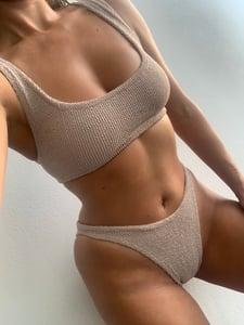 Image of Nude Mini Crop Bikini