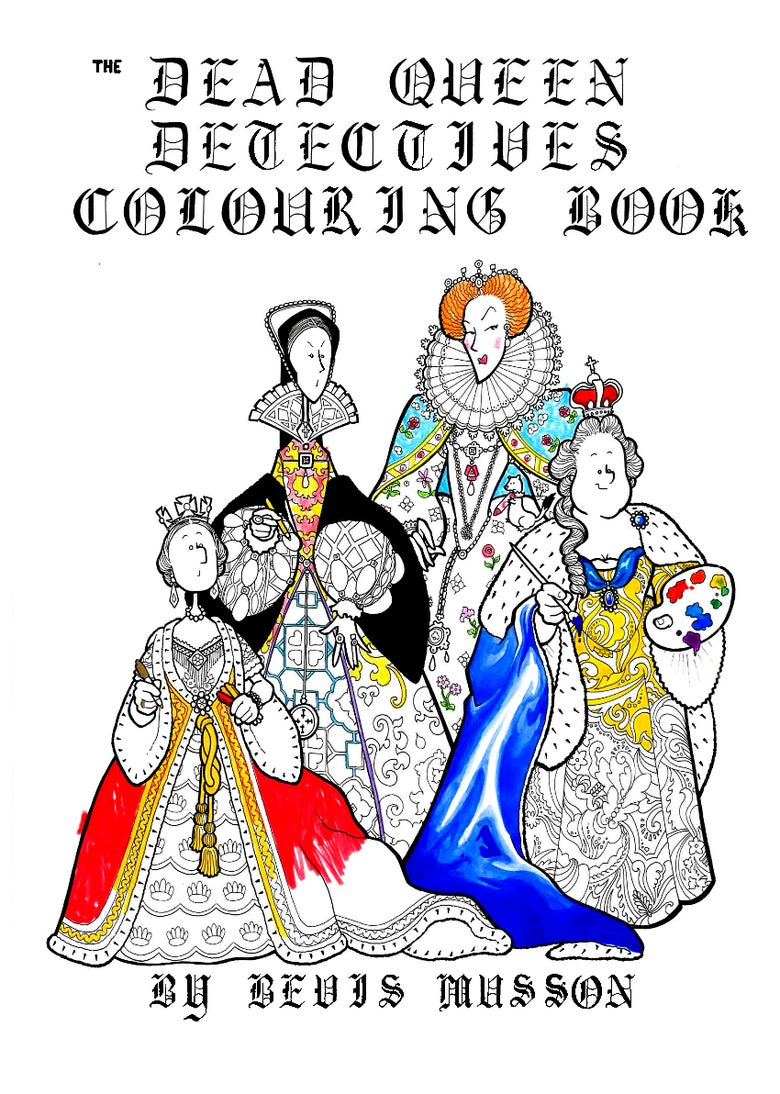Image of The Dead Queen Detectives Colouring Book